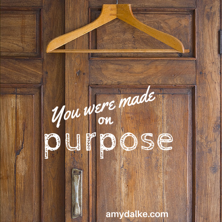 You were made on purpose. Join me to learn a little about what that might look like.