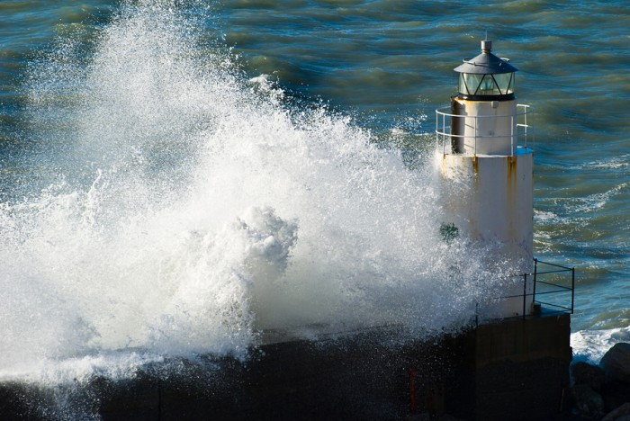 Waves On The Lighthouse