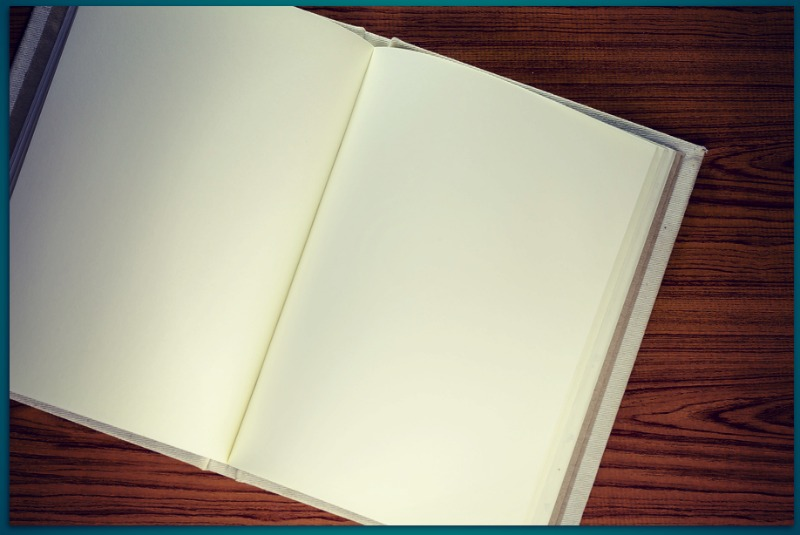 What if God shows up best on blank pages?