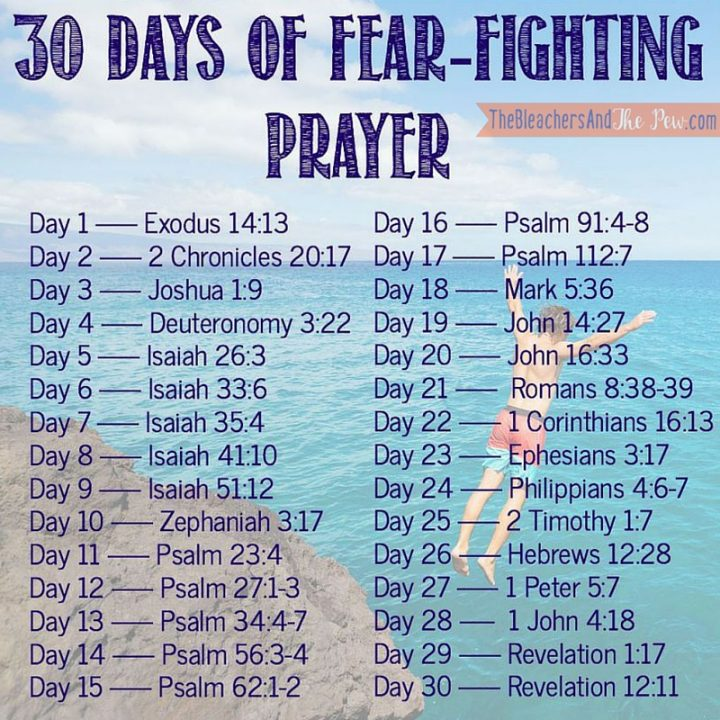 If fear keeps you from Really LIVING...join me for 30 Days of Fear Fighting Prayer_VERSES