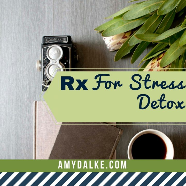 Stressed out much? Me too. But here's how I've learned to fix that. Consider this your official Rx for Stress Detox.
