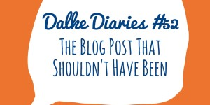 Dalke Diaries #52: The Blog Post That Shouldn't Have Been